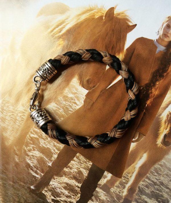 paardenhaar armband - Million Horse - paardenhaar sieraad – paardenhaar armband zilver – paardenhaar armband zilverkleurig – paardenhaar armband goedkoop –– million-horse – millionhorse – million-horses – armband van paardenhaar laten maken – paarden armband – paarden armband zilver – sieraad paardenhaar – vlecht paardenhaar – ronde vlecht – paardenhaarsieraad – armband paardenhaar zelf maken - Bracelet Atlanta