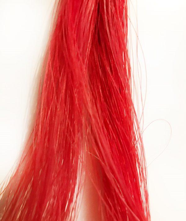 Paardenhaar-armband-Million-Horse-gekleurd-geverfd-rood